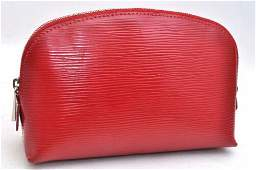 Authentic Louis VuittonEpi Pochette Cosmetic Pouch Red