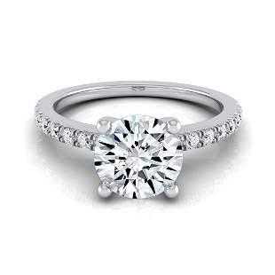 Round Center Classic Petite Split Prong Diamond