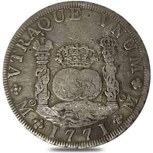 1771 Mexico Spanish Colony 8 Reales Charles III Silver