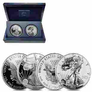 2012 S 1 oz Proof Silver American Eagle 2-Coin Set