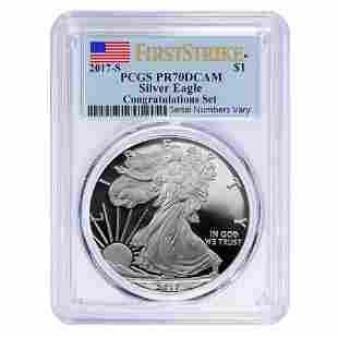 2017-S 1 oz Proof Silver American Eagle Congratulations