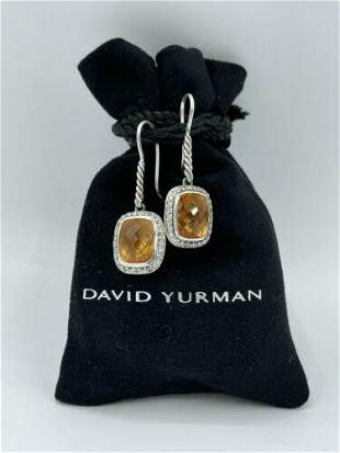 DAVID YURMAN NOBLESSE 10 X 8 CITRINE DIAMOND STERLING