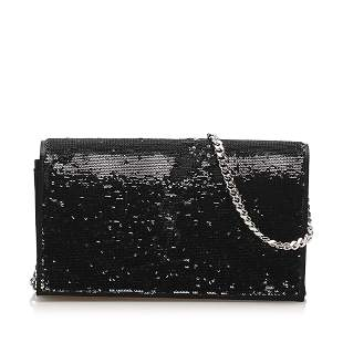 Authentic YSL Monogram Sequined Wallet on Chain