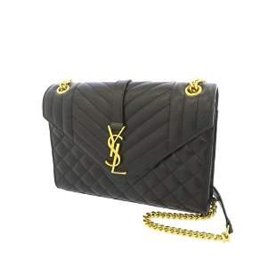 Authentic YSL Monogram Envelope Leather Shoulder Bag