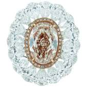 Authentic GIA Certified 6.27 Carat Fancy Pink-Brown