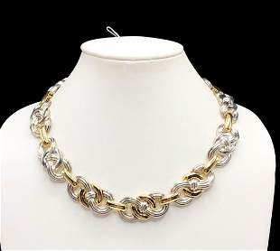 Authentic Givenchy Eternity Knot Two Tone Necklace