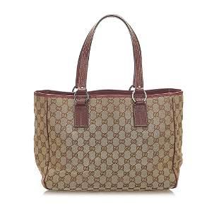 Authentic Gucci GG Canvas Tote Bag