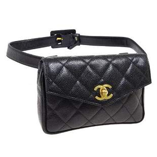 Authentic CHANEL Quilted Waist Bum Bag