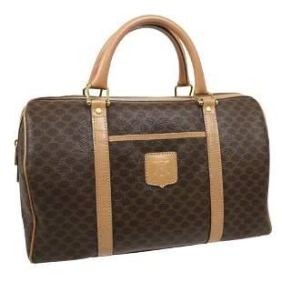 Authentic CELINE Macadam Pattern Boston Hand Bag