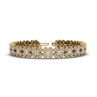 5.50 ctw Micro Pave VS/SI Diamond Certified Bracelet