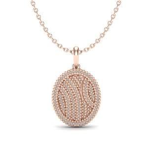 1 ctw Micro Pave VS/SI Diamond Certified Necklace 14k
