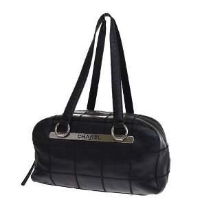 Authentic CHANEL CC Chocolate Bar Shoulder Bag Caviar