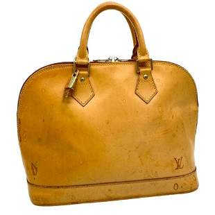 Authentic LOUIS VUITTON Nomade Leather Alma Hand Bag