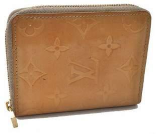 Authentic Louis Vuitton Vernis Broome Zip Wallet Yellow