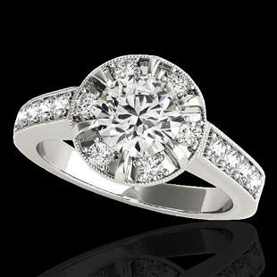 2 ctw Certified Diamond Solitaire Halo Ring 10k White