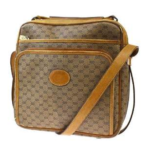 Authentic GUCCI GG Logo Pattern Shoulder Bag PVC