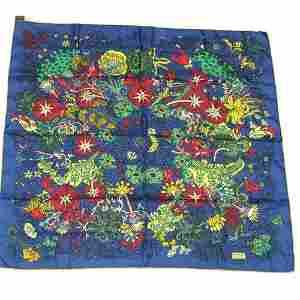 "Authentic HERMES scarf """"Cache-cache Fleuri"""" 100% Silk"