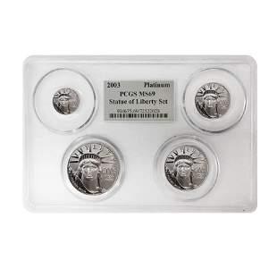 2003 1.85 oz Platinum American Eagle 4-coin Set PCGS MS
