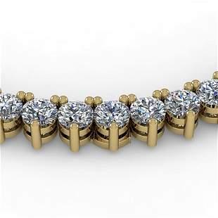 18 ctw 3 Prong Graduated Diamond Riviera Necklace 14K