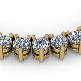 38 ctw 3 Prong Diamond Riviera Necklace 14K Yellow Gold