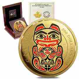 2016 Canada 5 oz Gold Mythical Realms of the Haida -
