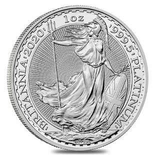 2020 Great Britain 1 oz Platinum Britannia Coin .9995