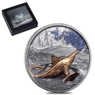 2021 1 oz Silver Magical Lamp 1001 Nights Palau Coin