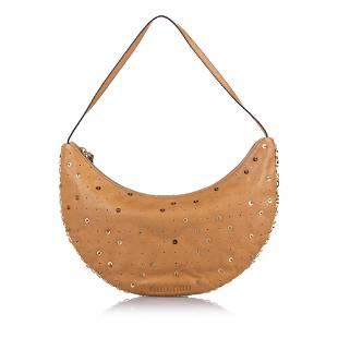 Authentic Miu Miu Embellished Leather Baguette