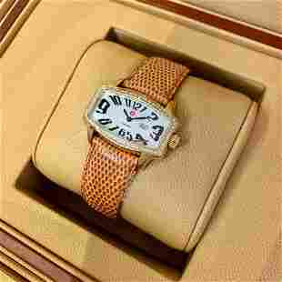 Authentic Michele Coquette Retro Mother of Pearl Dial