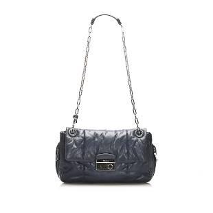 Authentic Prada Nappa Bomber Leather Shoulder Bag