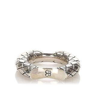 Authentic Bottega Veneta Intrecciato Concave Ring