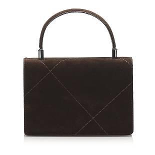 Authentic Ferragamo Suede Leather Satchel