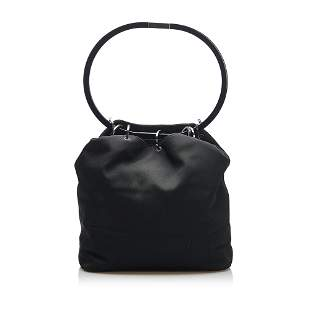 Authentic Gucci Ring Handle Cotton Handbag