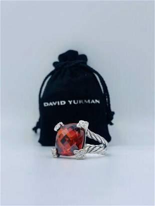 Authentic David Yurman Sterling Silver 15mm Cushion On