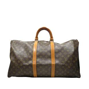Authentic Louis Vuitton Monogram Keepall Bandouliere 55