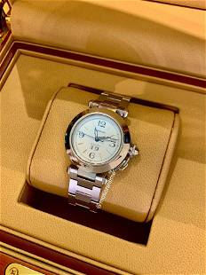 Authentic Cartier Pasha C Big Date 35mm - Stainless