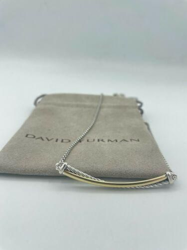 Authentic David Yurman Crossover Bar Cable Necklace