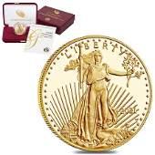 2021-W 1 oz $50 Proof Gold American Eagle (w/Box & COA)