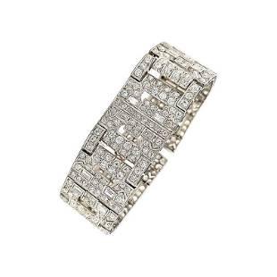 Authentic Chaumet Paris Art Deco Diamond Platinum