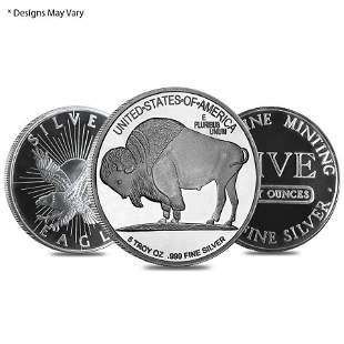 5 oz Silver Generic Rounds .999 Fine
