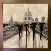 """Original Painting - """"Sight seeing in the rain """""""