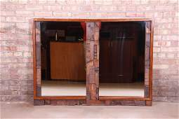 Paul Evans Style Lane Pueblo Brutalist Oak Framed