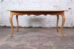 Baker Furniture French Provincial Louis XV White Oak