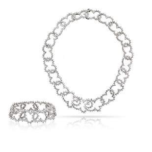 Authentic Angela Cummings Platinum Diamond Choker and