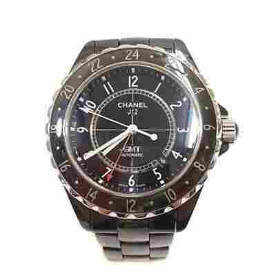 Authentic Chanel J12 GMT Men's Automatic Black Dial
