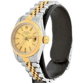 Authentic ROLEX Oyster Perpetual Date 69173 YG SS 82