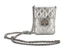 Authentic Chanel Silver Mini Reissue Crossbody Bag