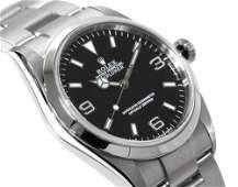 Authentic Rolex Explorer Black Dial Automatic Winding