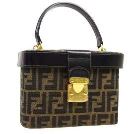 Authentic FENDI Zucca Pattern 2way Hand Bag Box