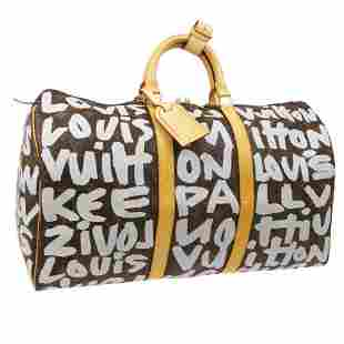 Authentic LOUIS VUITTON KEEPALL 50 TRAVEL HAND BAG